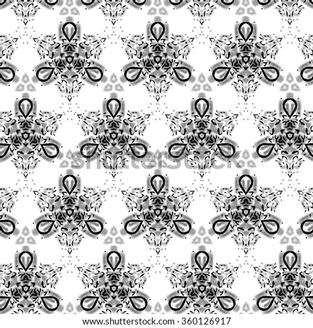 Black pattern on a light gray background. Patterns on the glass, fantasy. q