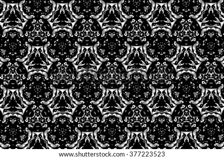 Black patterns on a light gray background. A