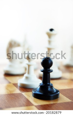 black pawn on chess board