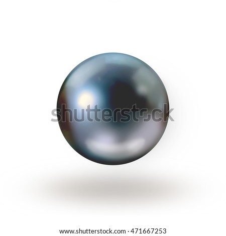 Black pearl isolated on white background