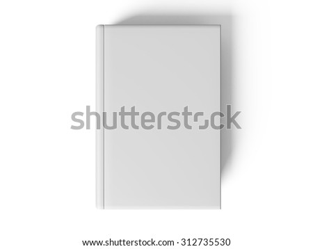 Black pen on white open book, on white background, concept - stock photo