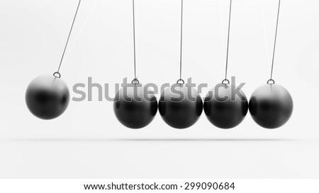 black pendulum - stock photo
