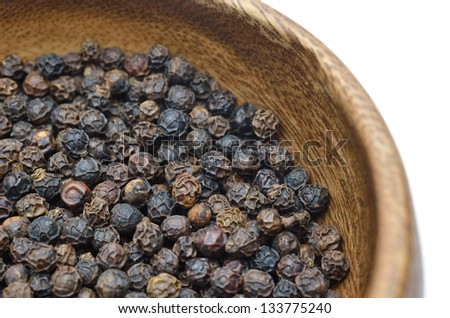 Black pepper - stock photo