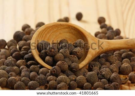 black pepper - stock photo