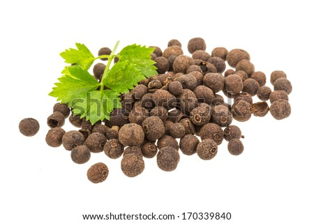 Black pepper isolated - stock photo