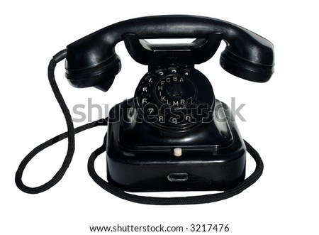 black phone on white background