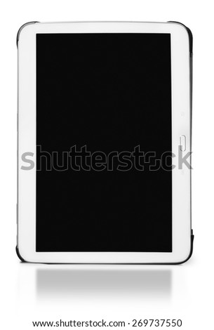 Black. Photo of a brand iPad mini. iPad mini. is a tablet developed by Apple Inc. - stock photo