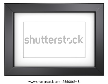 Black picture frame. Picture frame Black, isolated. - stock photo