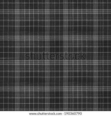 black plaid fabric texture - stock photo