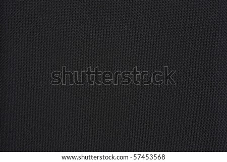 Black plain fabric, textile - stock photo