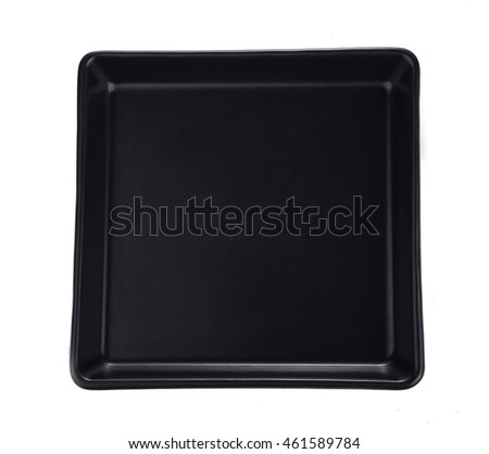 Black plate isolated on white background