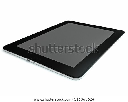 Black plate on a white surface ?3 - stock photo