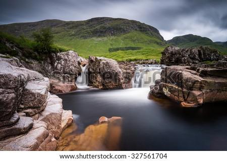 Black Pools, Glen Etive, Scotland - stock photo