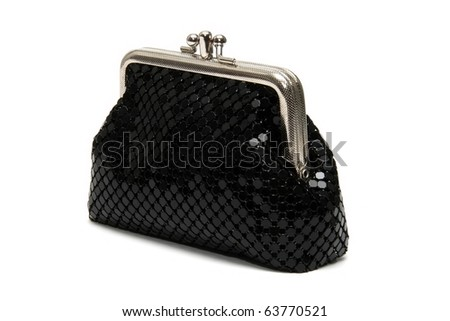 Black pouch - stock photo