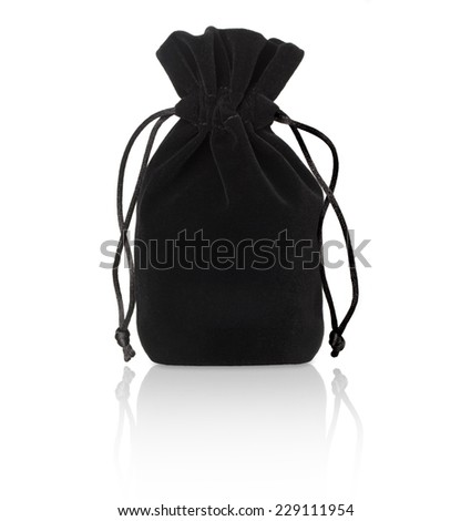 black pouch on a white background - stock photo
