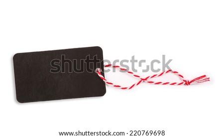 Black price label, isolated - stock photo