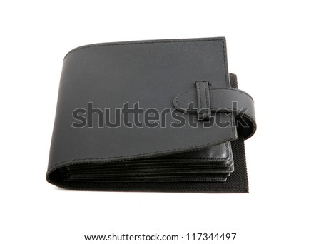 black purse isolated on the white background