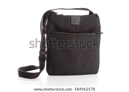 Black  purse isolated on white