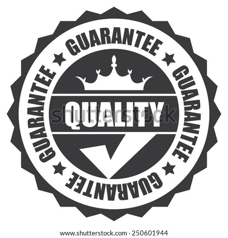 black quality guarantee icon, tag, label, badge, sign, sticker isolated on white  - stock photo