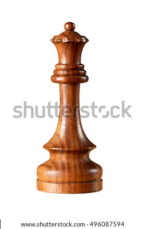 Black Queen chess piece isolated on white
