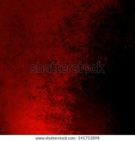 black red background Christmas color splash rough distressed vintage grunge background texture abstract design, bright sidebar, website template background, old messy retro wall style paint background - stock photo