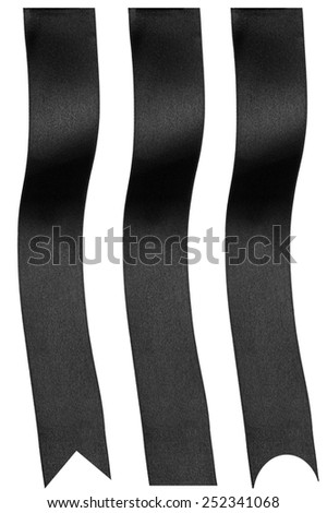 Black ribbons - stock photo