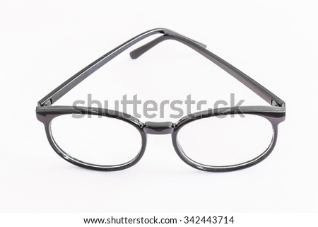 Black Rimmed Spectacles - stock photo