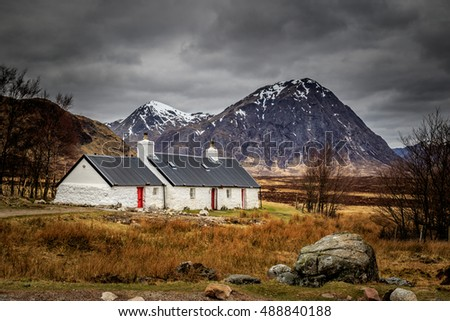 Black rock cottage buachaille etive mor Scotland