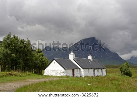 Black Rock Cottage within Glencoe by the A82 road Scotland United Kingdom