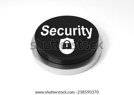 black round button security prrotection symbol - stock photo