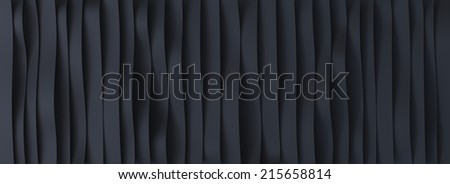Black rubber belts background - stock photo