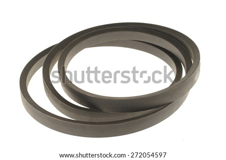 black rubber gasket isolated on white