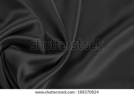 black satin or silk background - stock photo