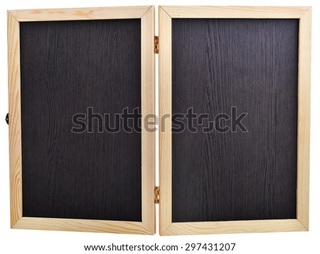 Black schoo-lboard isolated on white background
