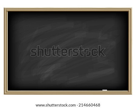 Black school board with a chalk, isolated on white