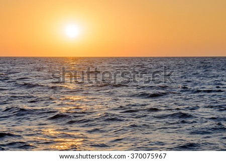 Black sea at sunset in Sochi, Russia