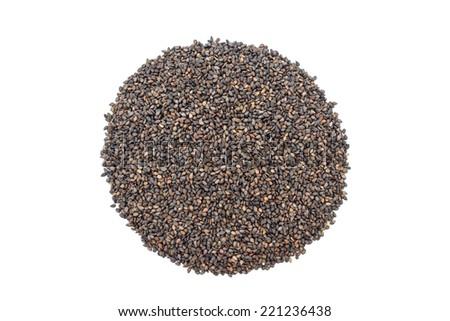 black sesame  in isolate on white. - stock photo