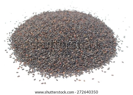 black sesame seed - stock photo