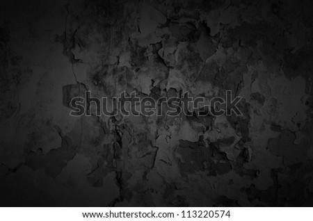Black shady wall texture background - stock photo