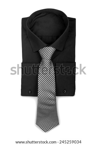 Black shirt with a tie. The concept of business - stock photo