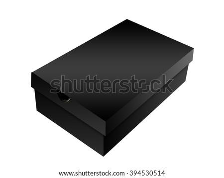 Black Shoe Box - stock photo