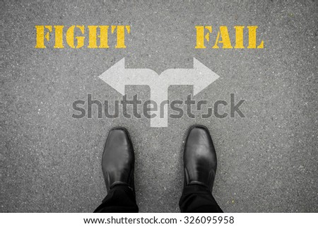 Black shoes has decision to make at the cross road - fight or fail