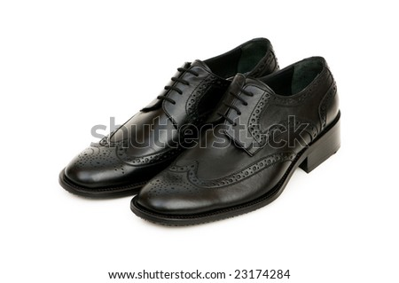 Black shoes isolated on the white background