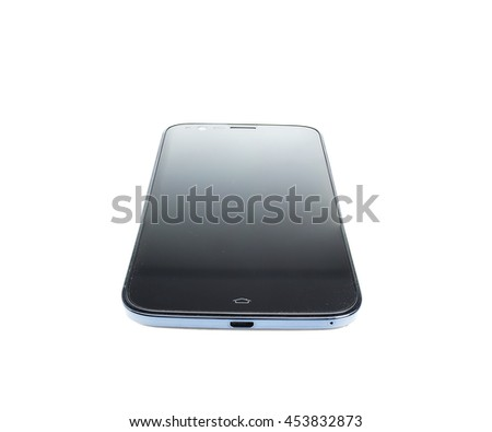 Black Smartphone on white background