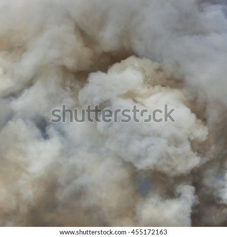 Black smoke cloud (select focus)