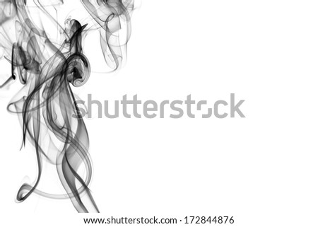 black  smoke on the black background
