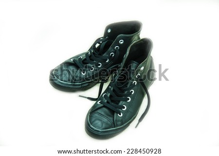 Black sneakers - stock photo