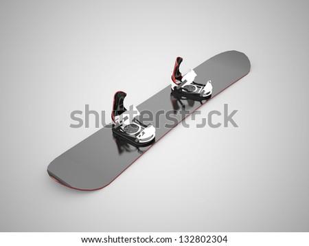 Black snow board concept - stock photo