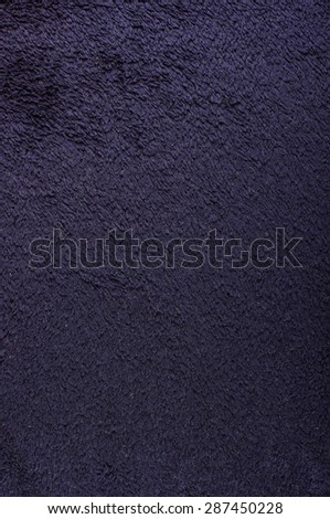 Black soft towel surface pattern vertical - stock photo