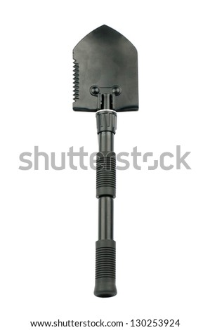Black spade on a white background